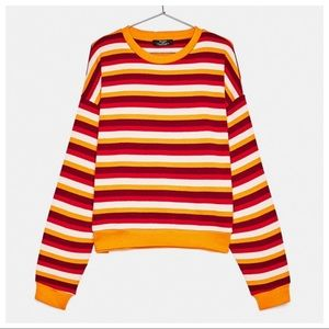 NWT. Bershka Striped Sweater. Size M.